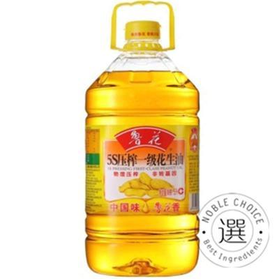 【选选】鲁花5s压榨一级花生油5L/瓶